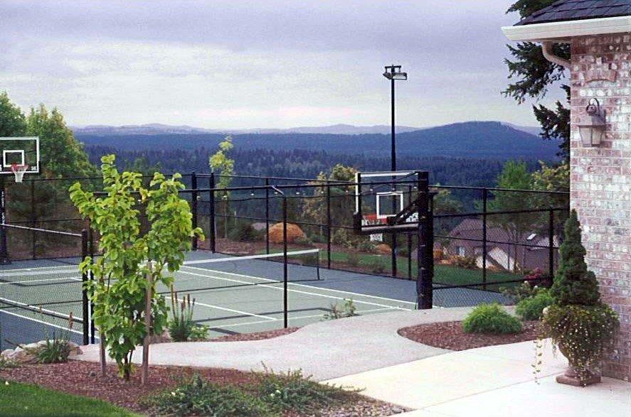 Image of a Welches Backyard Sports Court Design and Construction by Drake's 7 Dees