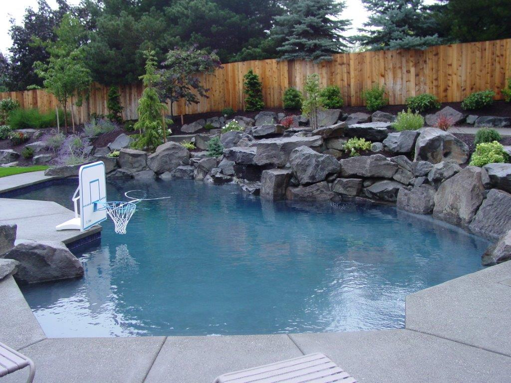 Image of a Dayton Backyard Pool Design and Installation by Drake's 7 Dees