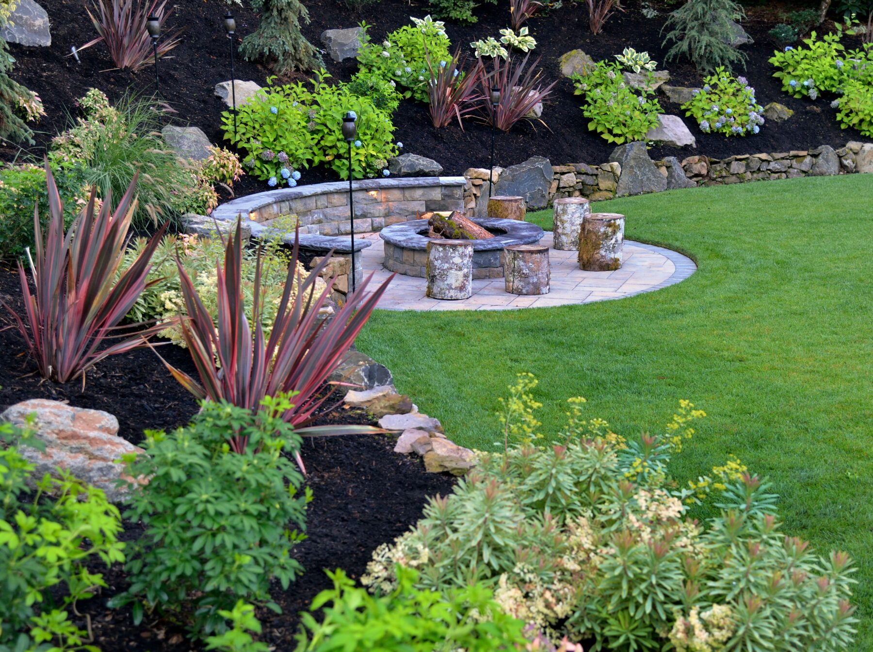 An example of Welches landscape design and landscape construction work